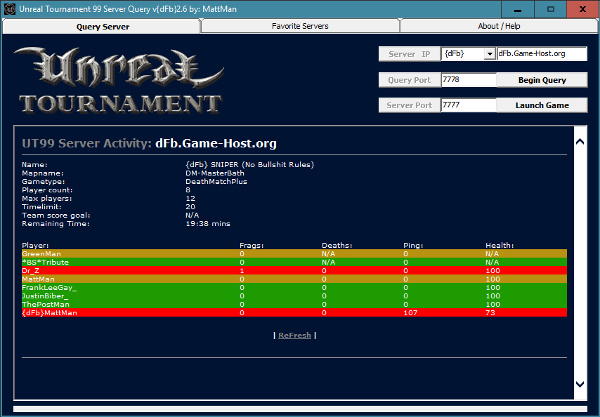 UT99 Server Query